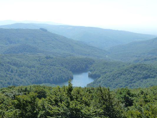 Sea Eye lake in Vihorlat mountains in Slovakia