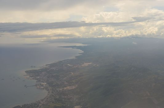 above Cebu in the Philippines