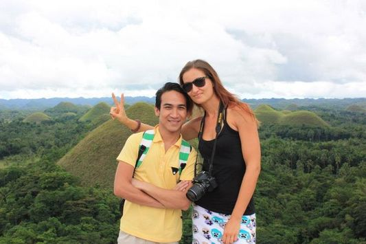 crazy sexy fun traveler with Jason at Carmen Chocolate Hills in the Philippines