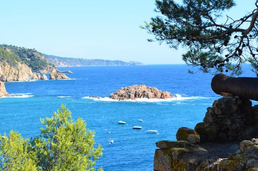 beautiful views from Tossa de mar