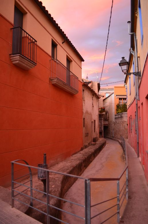 colourful buildings of Caldes de Malavella