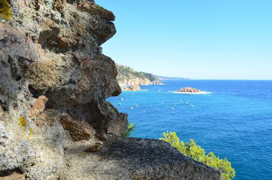 pretty sea seen from Tossa de mar