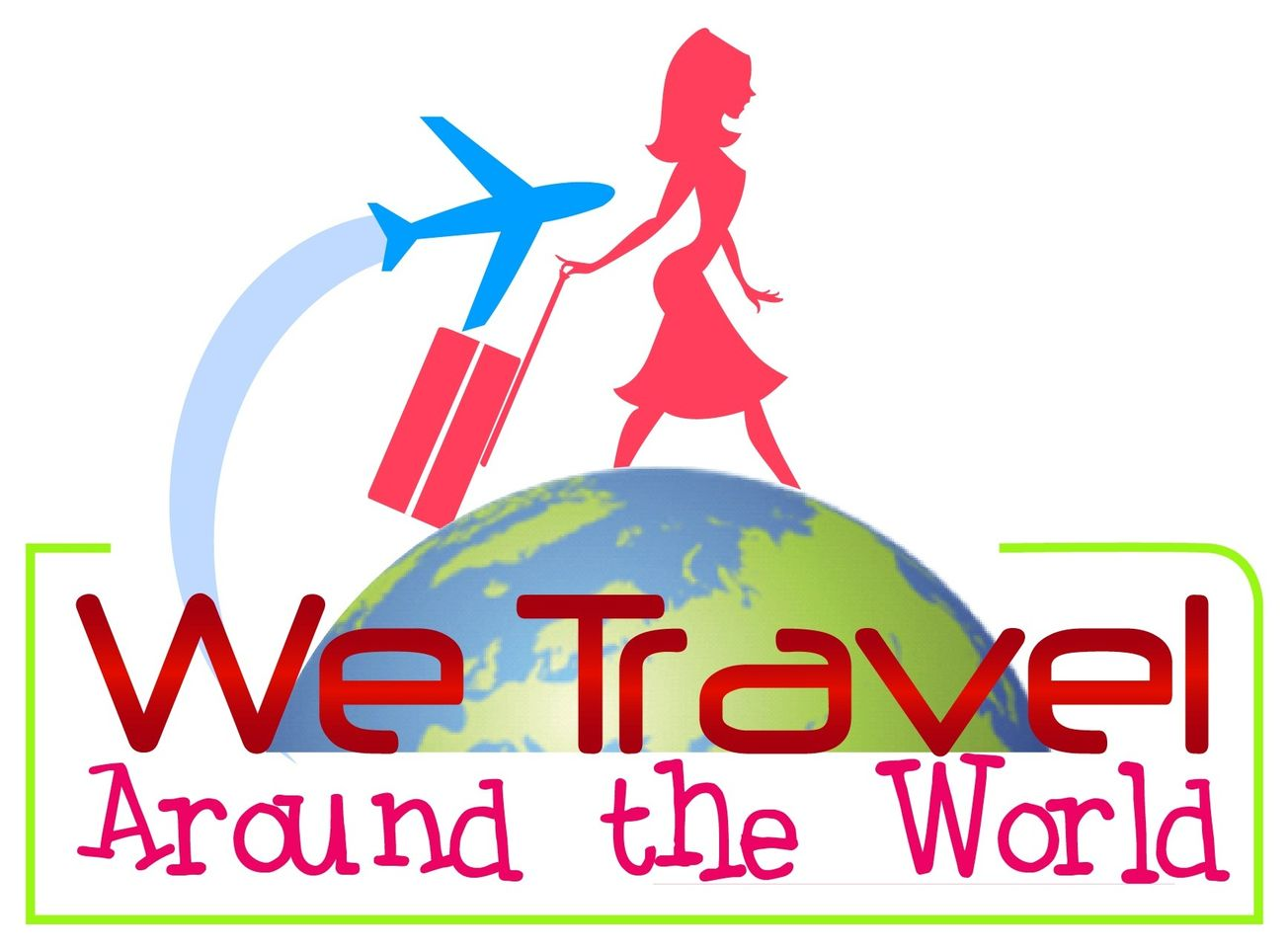 We Travel Around The World Logo