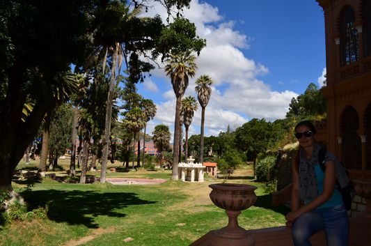 the garden of the Castillo de la Glorieta