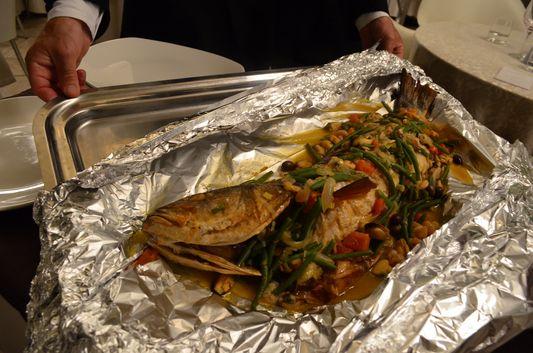fish dinner in Casino Sanremo
