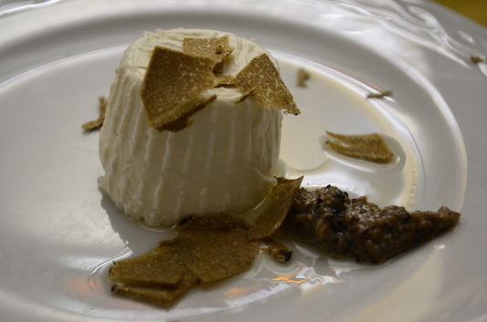 goat cheese with truffles