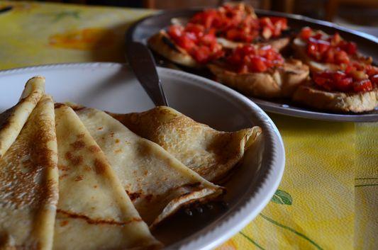 pancakes in Osteria con cucina Antica