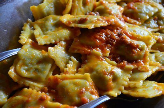 ravioli in Osteria con cucina Antica