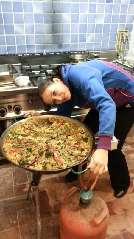 the biggest vegetarian paella we had in Sant Mori castle