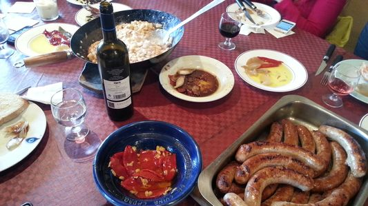 traditional Catalan dishes we had for lunch at wineyard Celler Martin Faixo