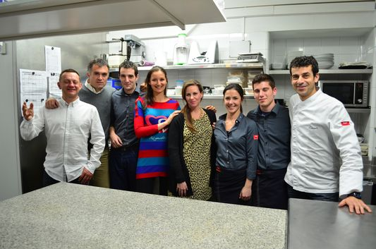 with the Mayor of Cadaques and the Compartir restaurant crew