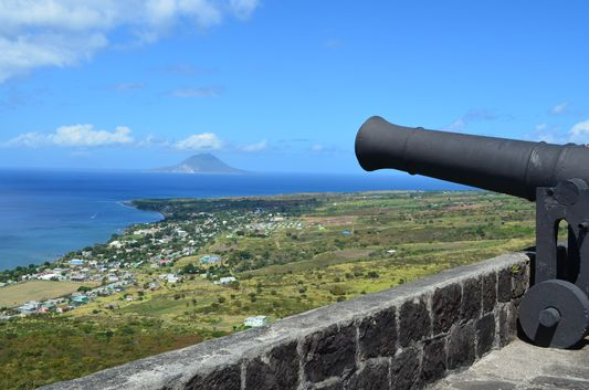 the view of Nevis island