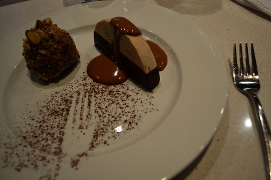 chocolate and nuts dessert at Les Labours Hotel La Ferme