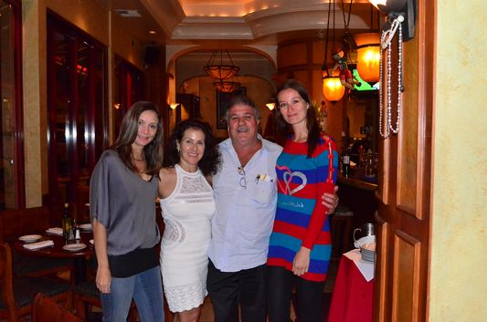 with Annette and the owners of Trattoria Pinocchio