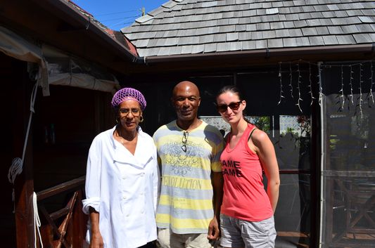 with Jasmine and Kenneth from El Fredo's restaurant St. Kitts