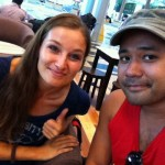 me with Ron at Singapore airport
