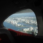 San Juan view from airplane